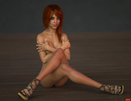 Human Dreams Casey Reed 18 Sexy Sitting X by REDANTA