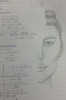 Maths class sketch by SeaHeartStables