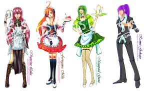 VOCALOID Maid+Host Series by PlatinaSi