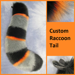 Custom Raccoon Tail - Commission by Lascivus-Lutra