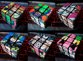 Rubik's Cube Dragon Ball Z by LESHUU