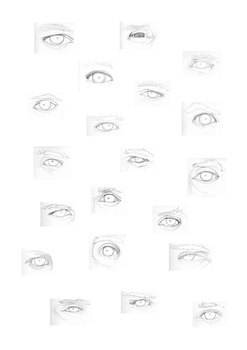 eye sketches by 0nm8