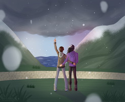 hey, it's snowing! [ vld || Day 2 - Shance ] by oh-no-Castiel