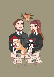 Slytherin Christmas commission by nataszek