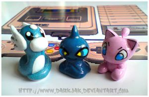 Dratini, Shuppet and Mew