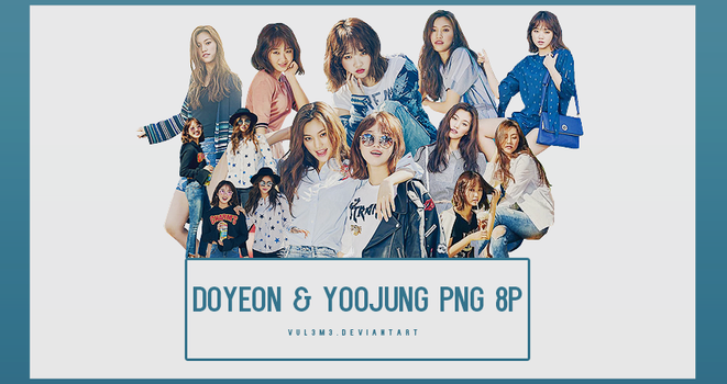 Doyeon and Yoojung Nylon 8P PNG by vul3m3