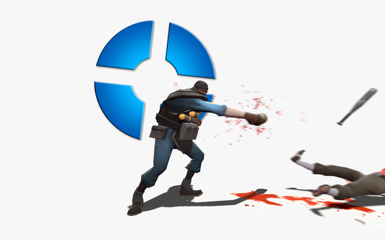 Blu Demoman - TF2 wallpaper by The-Loiterer