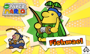 New Paper Mario: Fishmael by Nelde