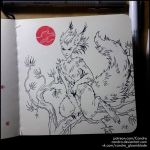 Inktober 2018 - Squirrel Fairy by Candra