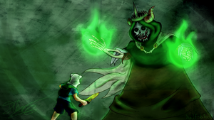 Finn vs Lich SPEEDPAINT by Ha1f-B1ood