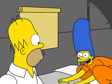 Marge Pouncing Homer by MetroXLR