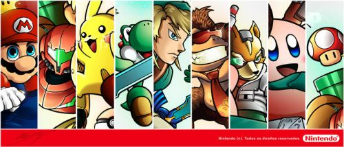 Nintendo Super Stars - Display by sergio-borges