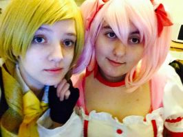 Madoka and Mami by CoolShazza