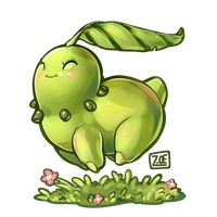 PokeddeXY - Chikorita by oddsocket