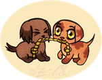 Puppies playing by Zivichi