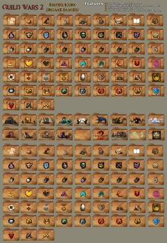Guild Wars 2 Folder Icons by Imaginos9