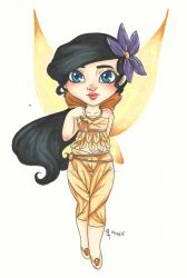 Chibi Disney Fairy Collection:  Melody by chelleface90