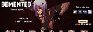Karma is a bitch - Site Banner by Doominatrix