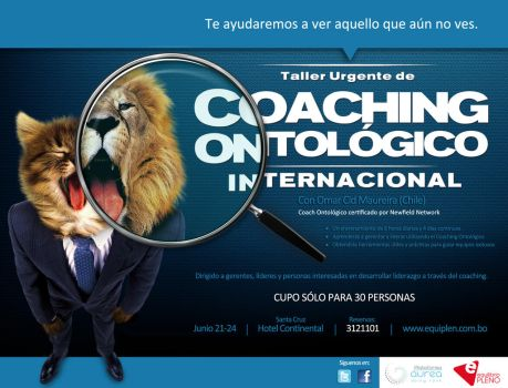 TALLER DE COACHING ONTOLOGICO by rodolfoquisberth