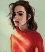 Lily Collins by yesiknowyoucan
