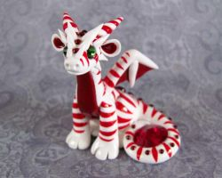 Candycane Dragon by DragonsAndBeasties