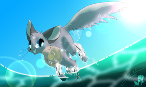 Katinka - Running through Water by JB-Pawstep