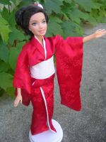 Barbie in a Red Kimono by mrinx