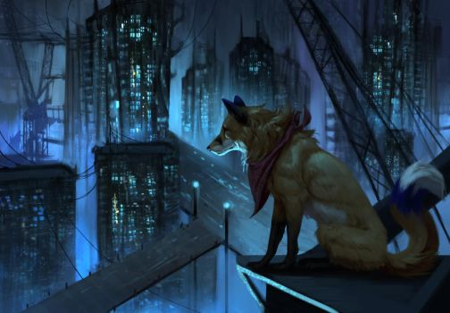 Into the City by JadeMere