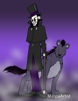 Sorcerer With Hyena by MJopaArtist