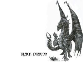 Wallpaper: Black Dragon by AlphonseCapone