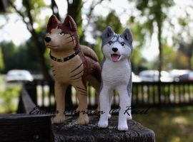 Riki and Gin figures by Recel