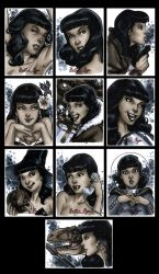 Bettie Page Private Collection sketchcards Set 2 by Guy-Bigbelly