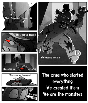 Fnaf Comic Page 4 | Intro by Marie-Mike