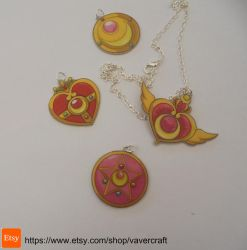 Sailor Moon Necklaces by Vavercraft