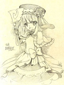 Eva Beatrice - sketch by Ninamo-chan