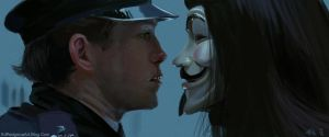 V for Vendetta 1 hour speedpaint by NakadaiShimada
