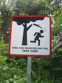 Cute signboard...Poor stickman by DracuLeon