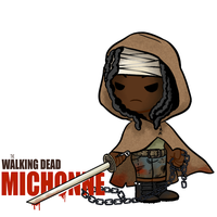Little ass kickers: Michonne by AninhaT-T