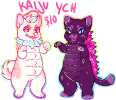 KAIJU YCH | $5 (reduced)| OPEN by flvffy