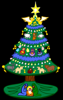 Nativity Tree Colored by ZIM402