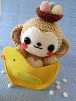 Easter Monkey Amigurumi by cuteamigurumi