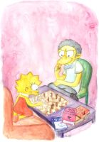 Moe Babysitting Lisa by SnappySnape