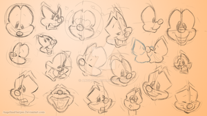 Animaniacs expressions practice by Angi-Shy