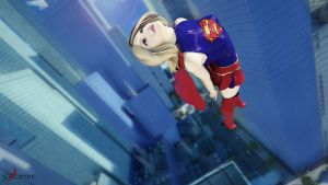 Supergirl in flight by 3DXcentric