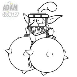 Mega Goblin Knight (Line-Art version) by Adam-Clowery