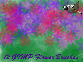 A Dozen Flower... GIMP Brushes by PkGam