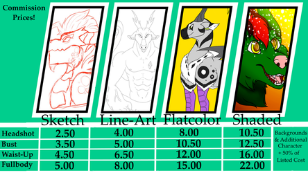 Updated Commission Prices- DIGITAL by Xenodragon11Crafts