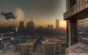 Scifi city by GothicHUN