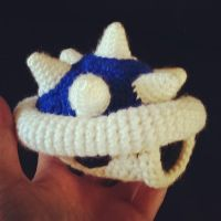 Spiny Blue Shell from Mario Kart by SirPurlGrey