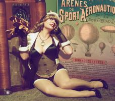 Steampunk Aviator Pinup by HeatherAfterCosplay